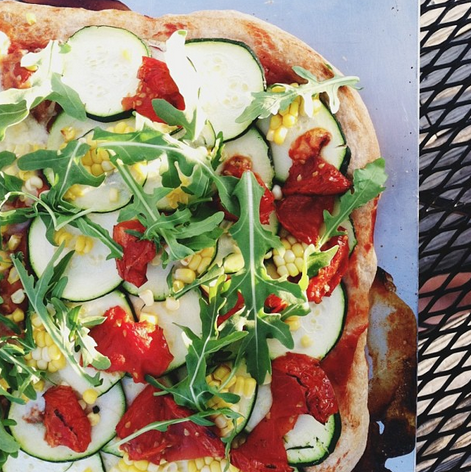 summertime farm pizza, vegan // inmybowl.com