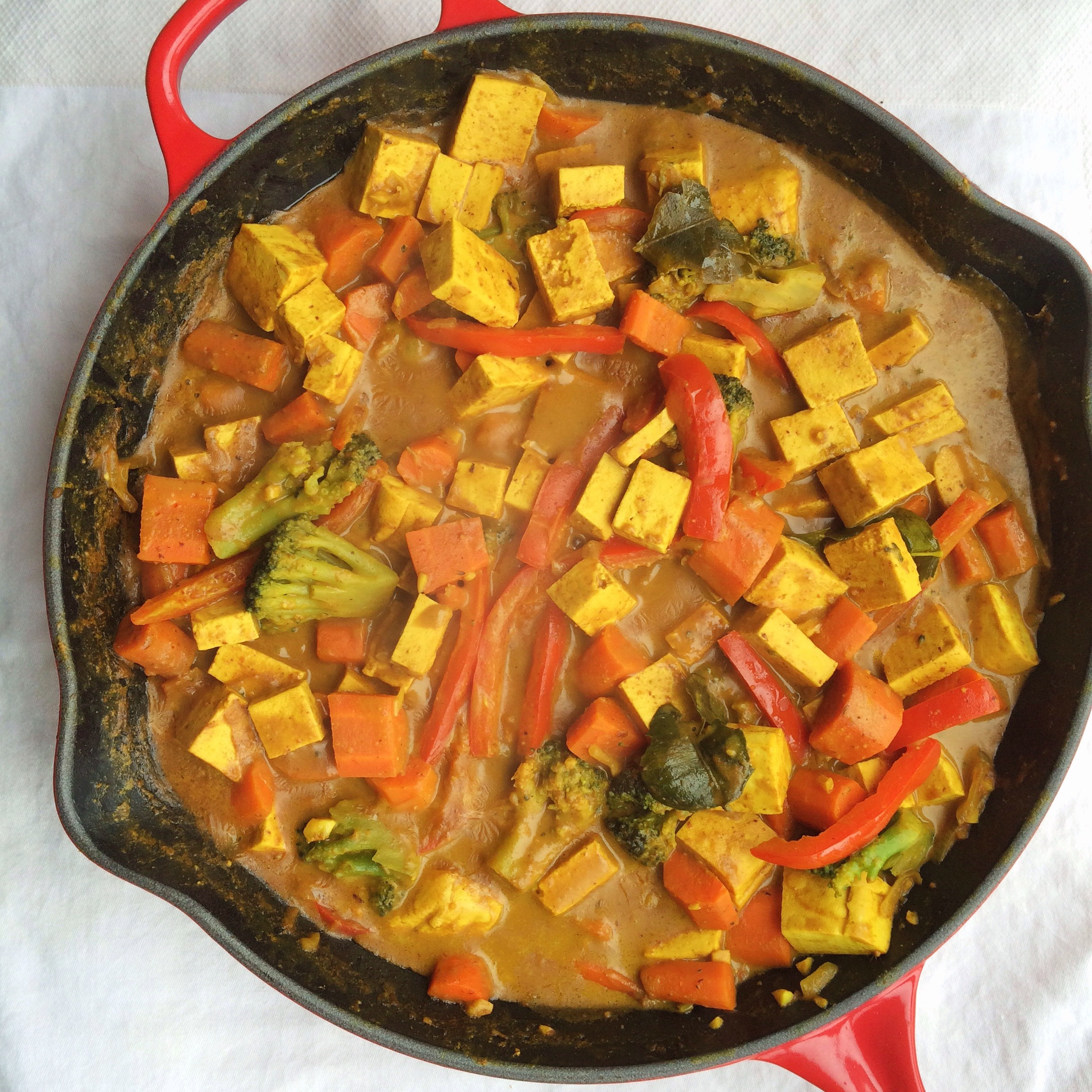 Panang Tofu Curry Recipe — Dishmaps