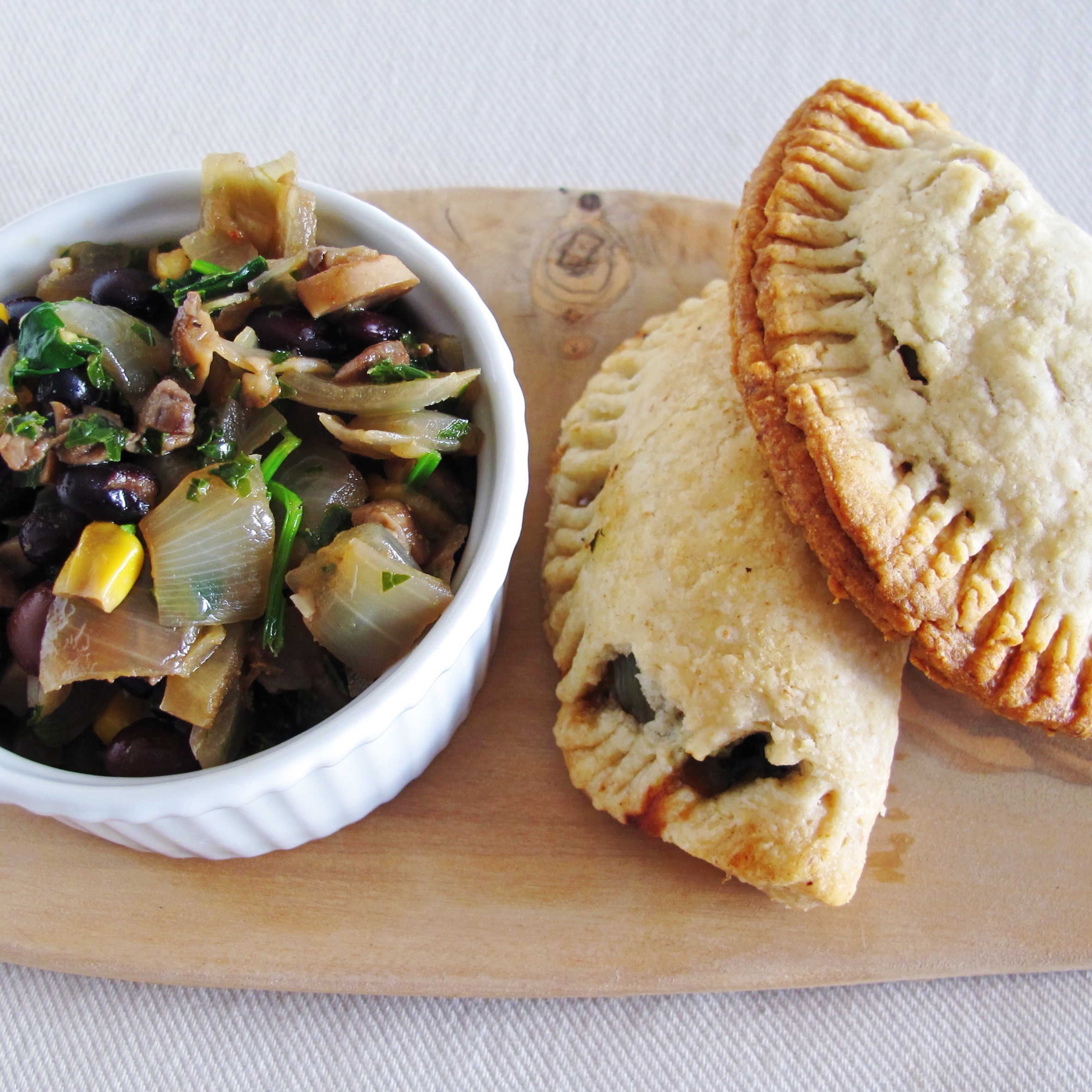 Vegan Mushroom & Kale Spiced Empanadas l  In My Bowl