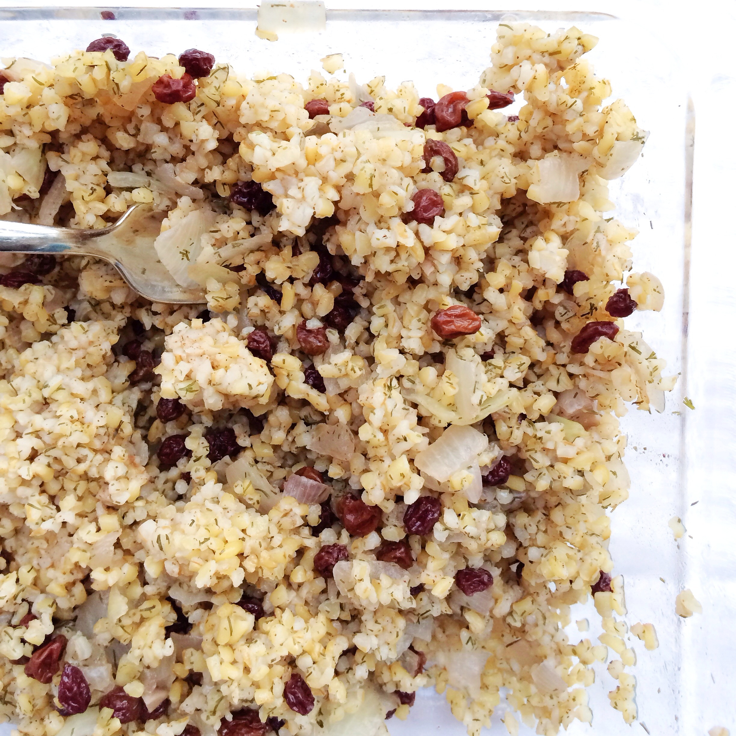 Bulgur with Dill and Currants