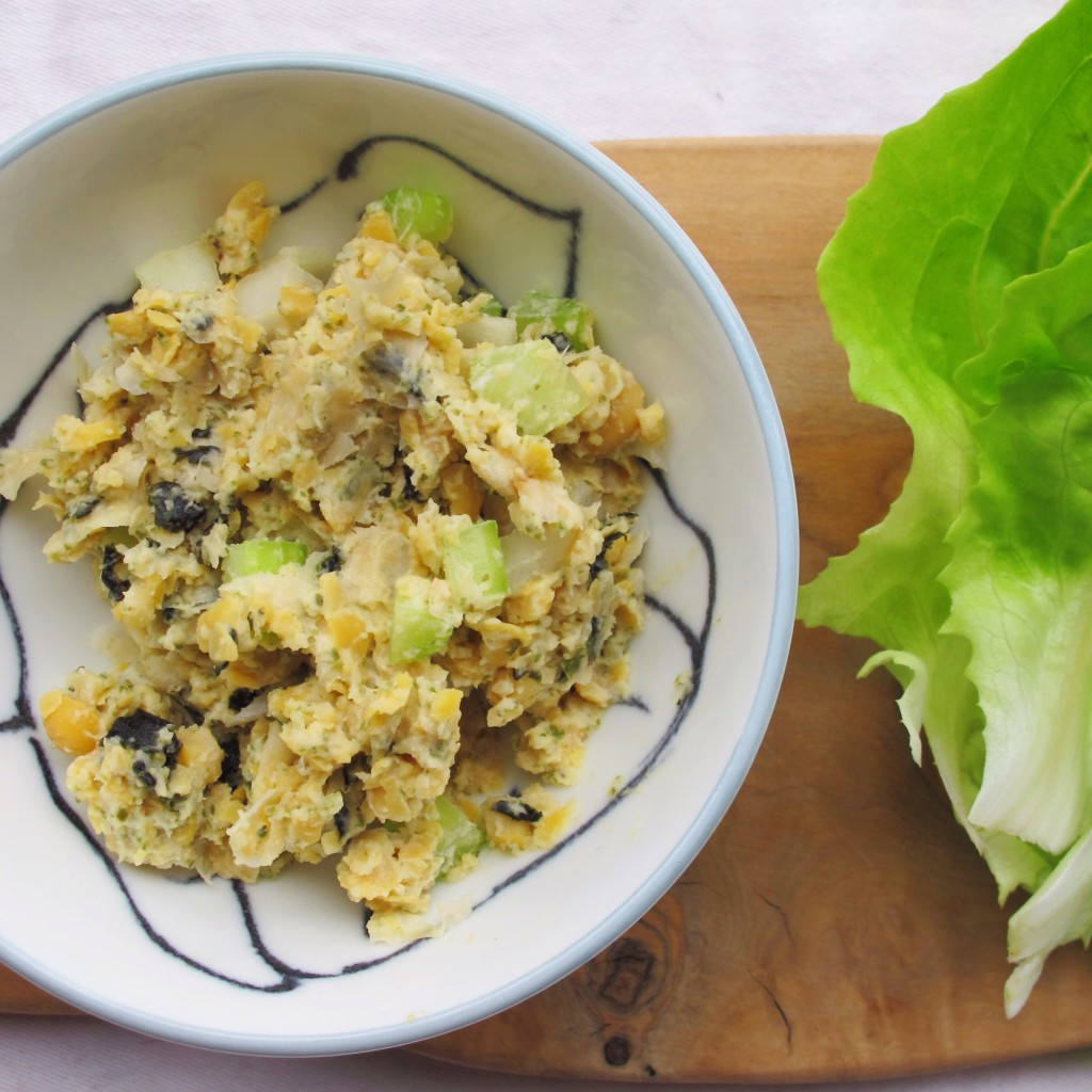 Vegan Chickpea 'Tuna' Salad Lettuce Cups l In My Bowl