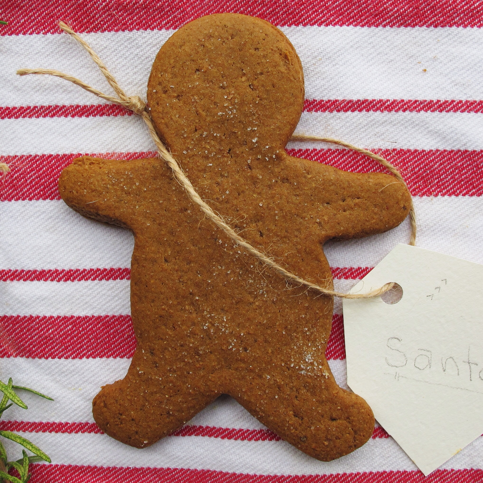 Vegan Spiced Gingerbread Man Cookies // inmybowl.com