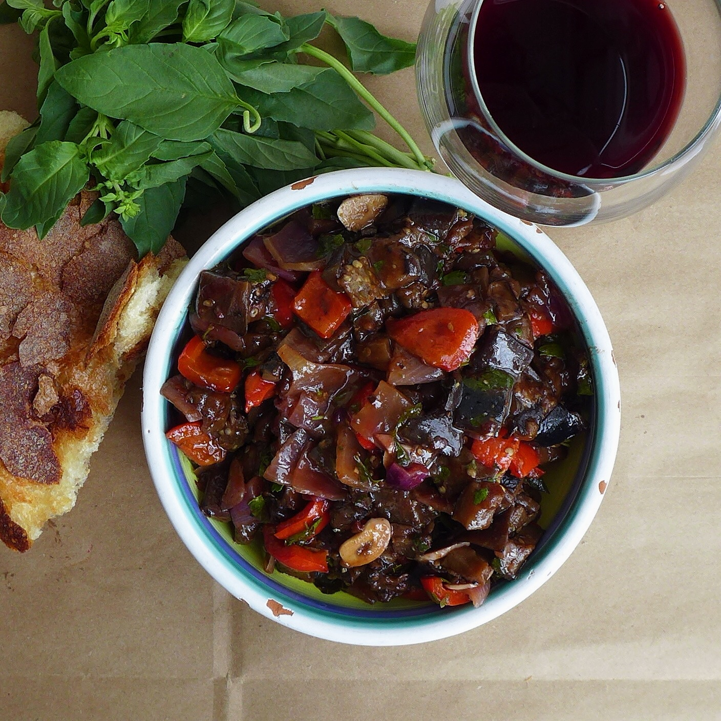 eggplant salad with spiced eggplant chicken this spiced eggplant salad ...