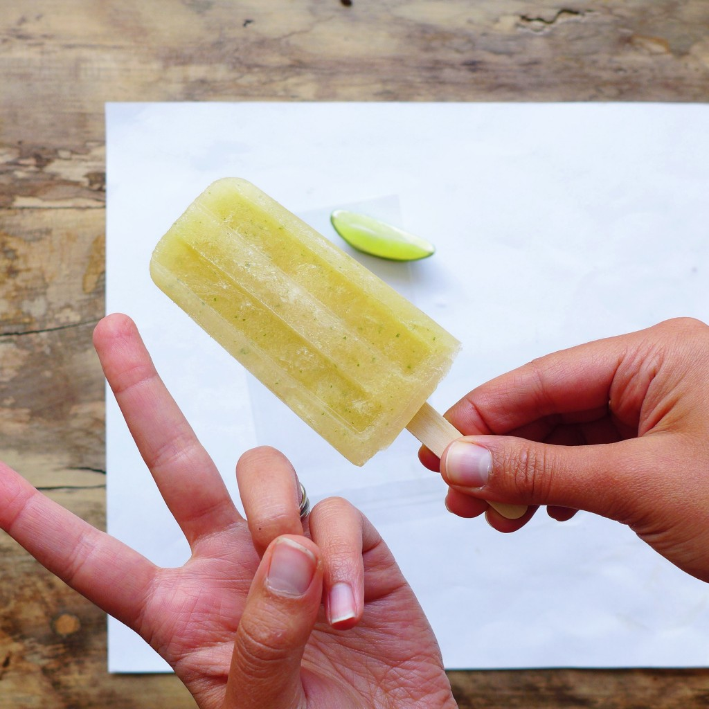 Spicy Grapefruit Lime & Ginger Popsicles