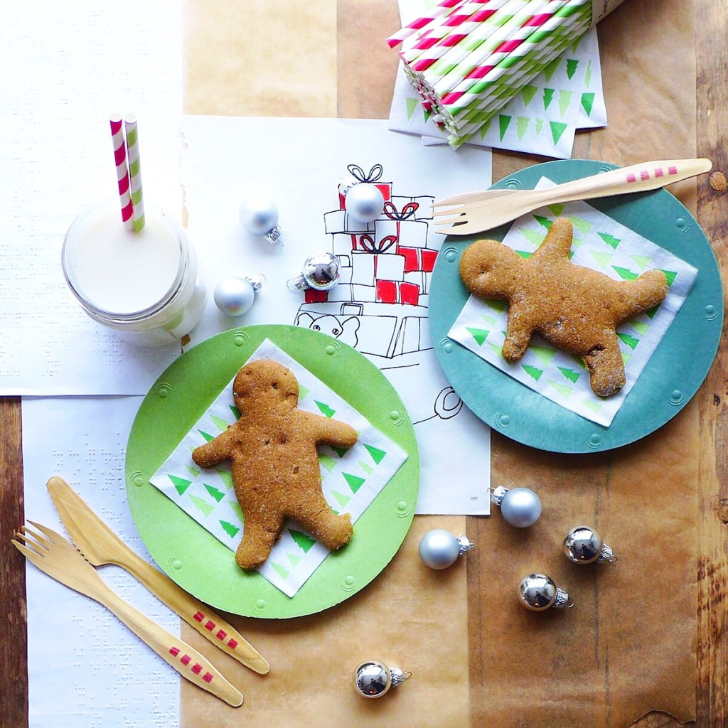 Maple & Pumpkin Gingerbread Cookies (vegan) // inmybowl.com