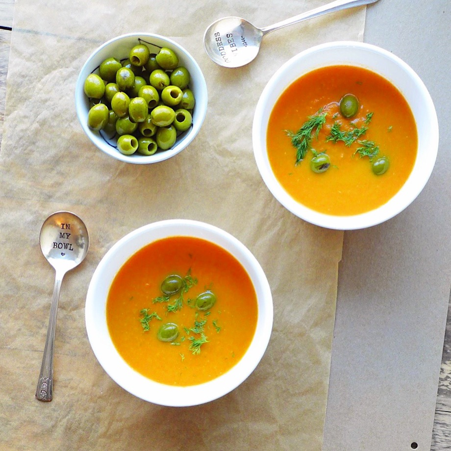 Carrot, Olive & Fennel Seed Soup (#vegan) // inmybowl.com