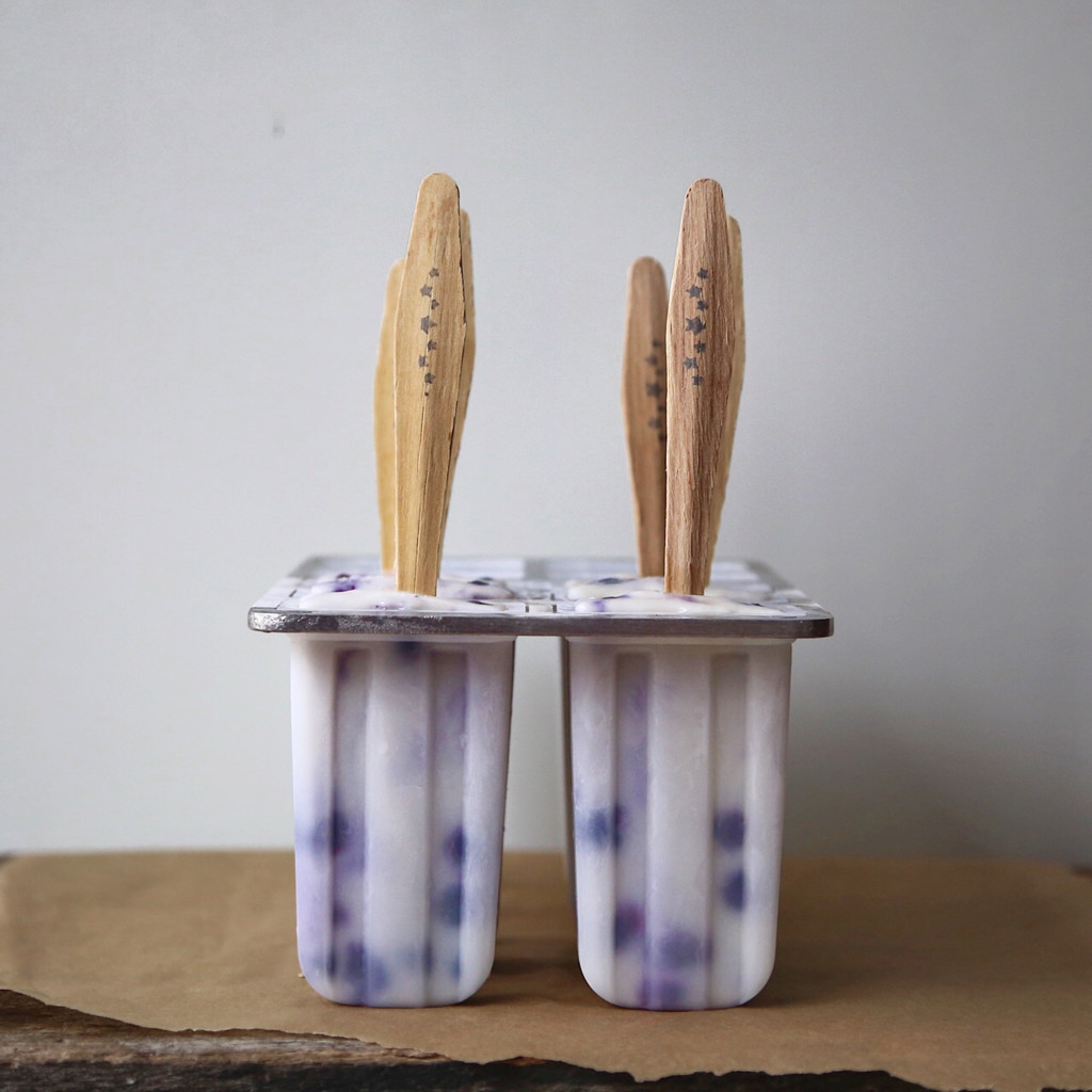 Ginger Infused Creamy Coconut and Blueberry Pops, vegan // inmybowl.com