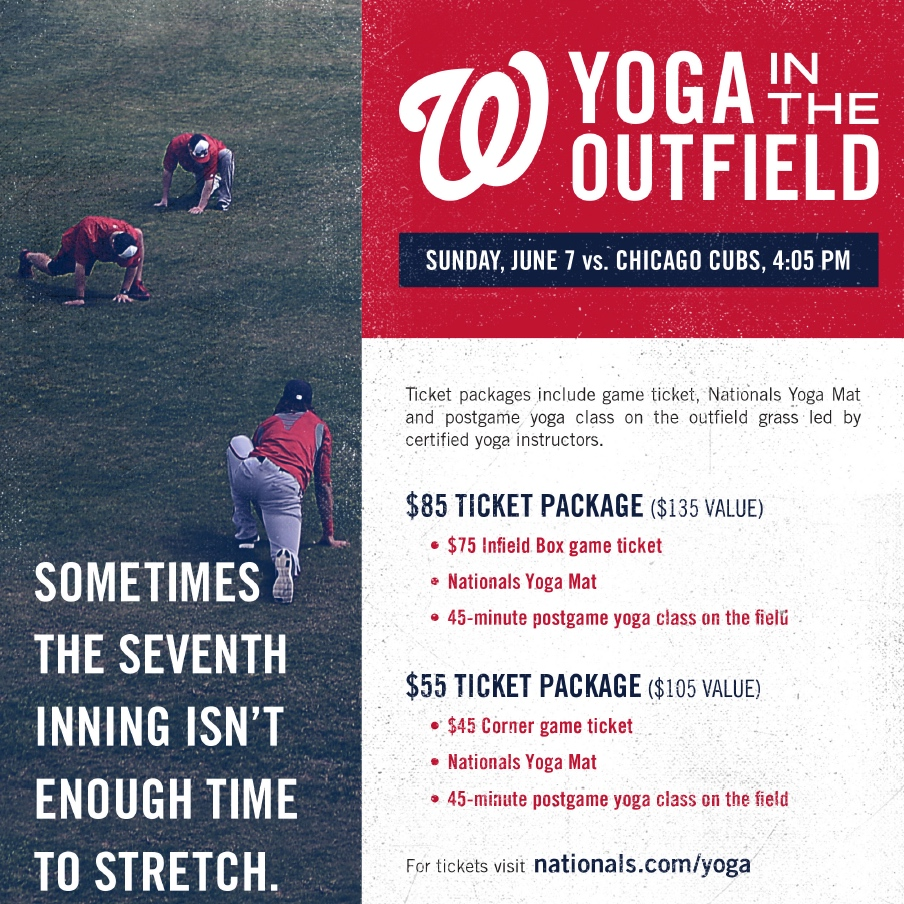 Yoga in the Outfield, Washington DC // inmybowl.com