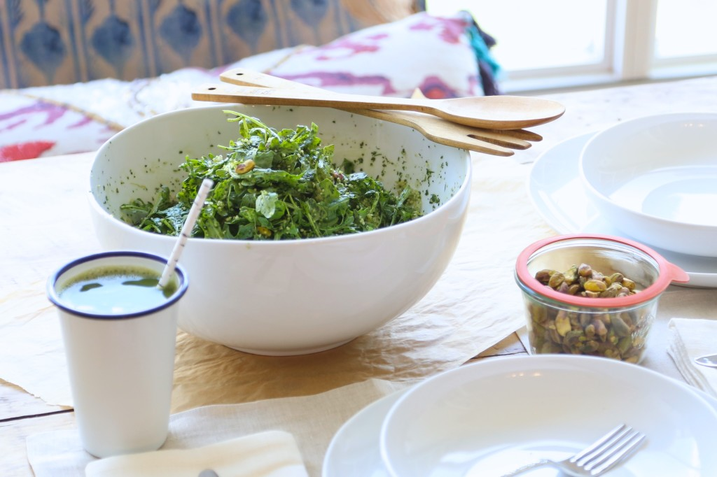 A Healthy Summer Salad Recipe - Green Couscous and Pistachio Salad // inmybowl.com