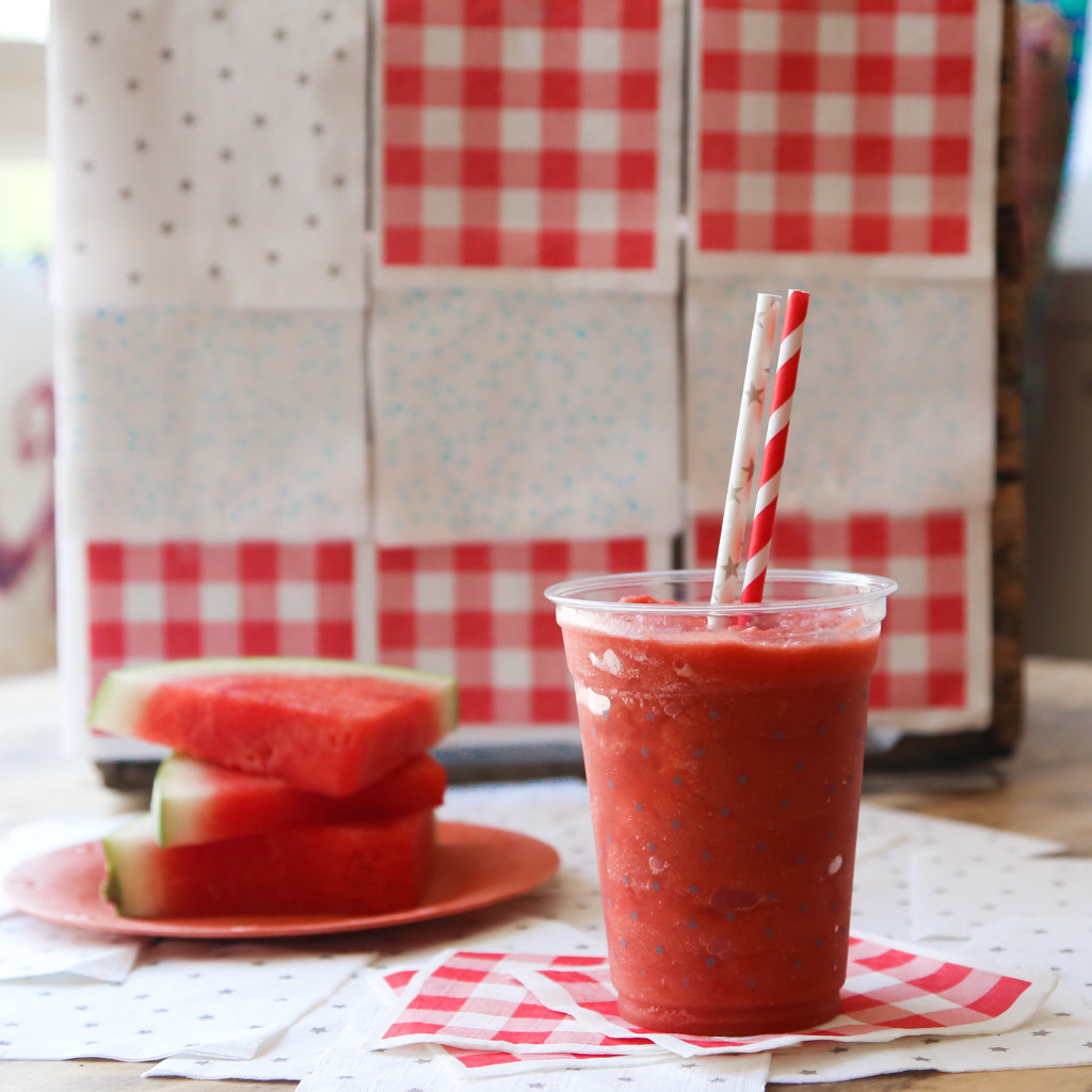 frozen watermelon lime margaritas #recipe // inmybowl.com