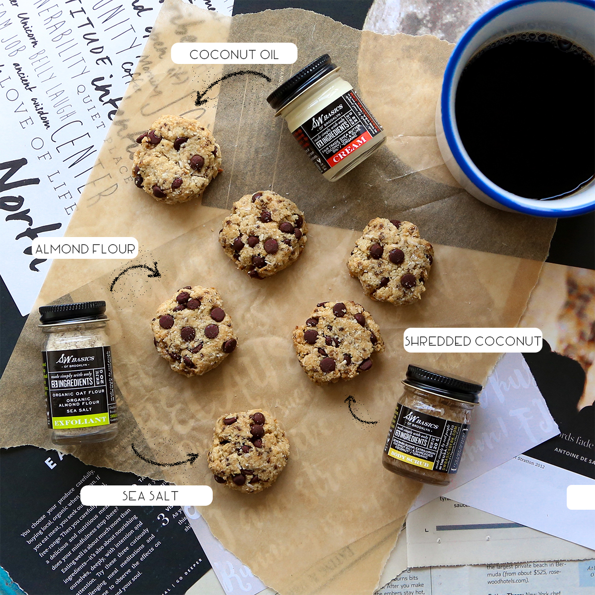 Skin Cleanse Cookies - vegan + grain free almond coconut cookies with dark chocolate chips & sea salt // inmybowl.com