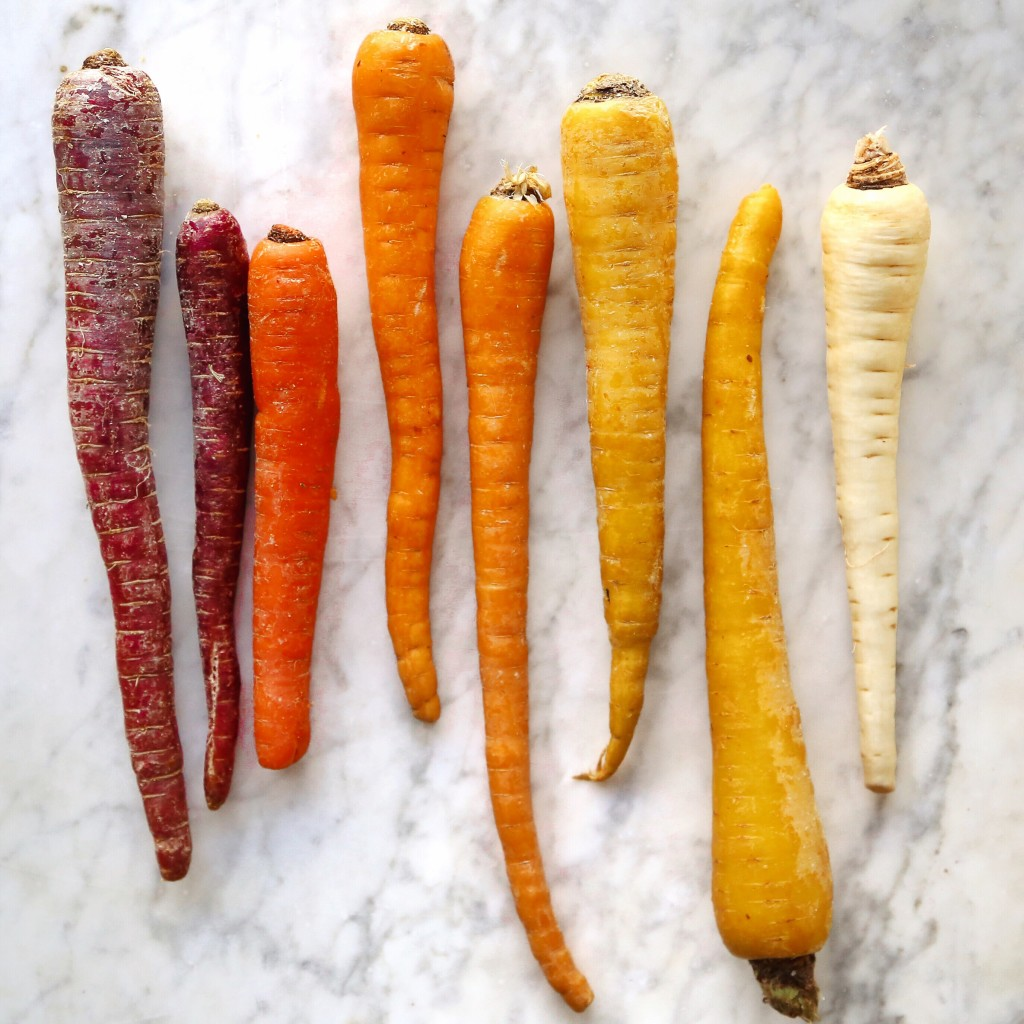 vegan roasted rainbow root vegetables recipe, perfect for a plant based thanksgiving // inmybowl.com
