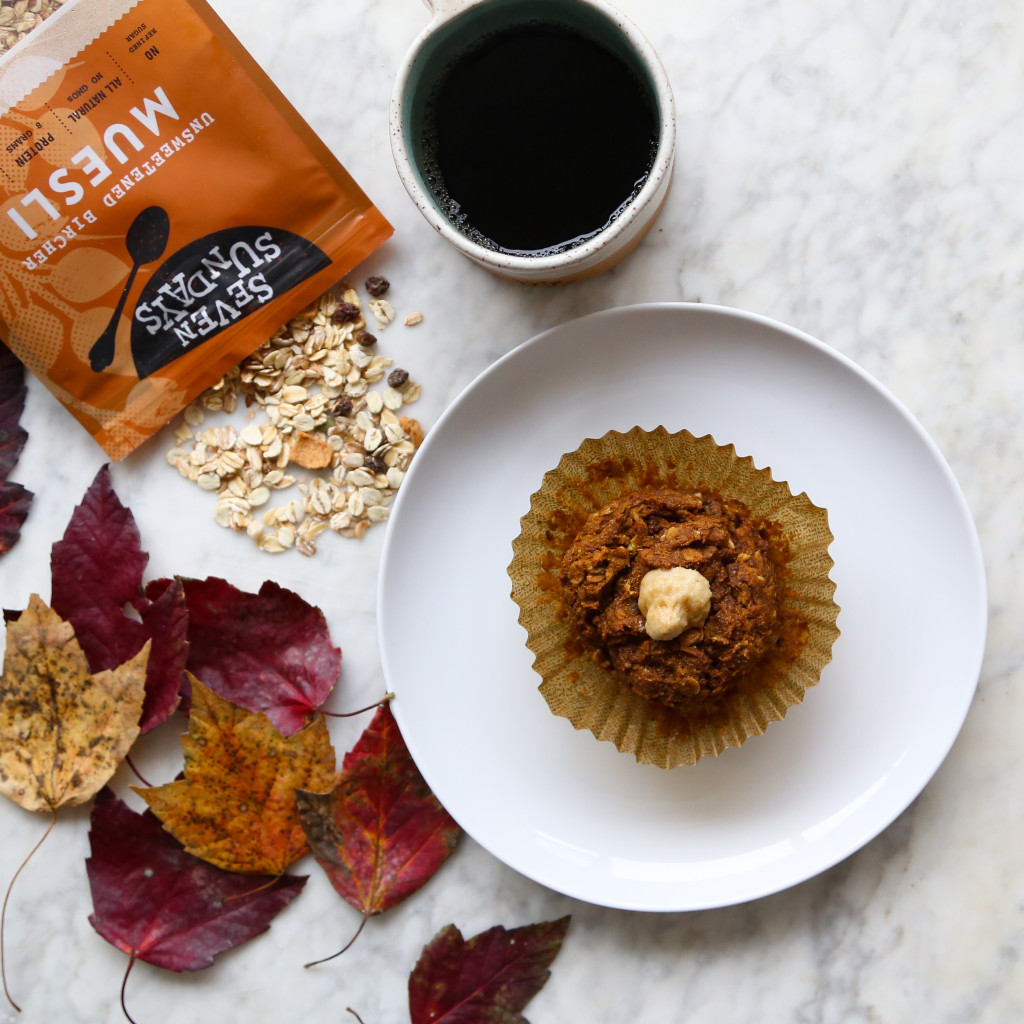 Pumpkin Cashew 'Cream Cheese' Muesli Muffins Recipe, VEGAN // inmybowl.com