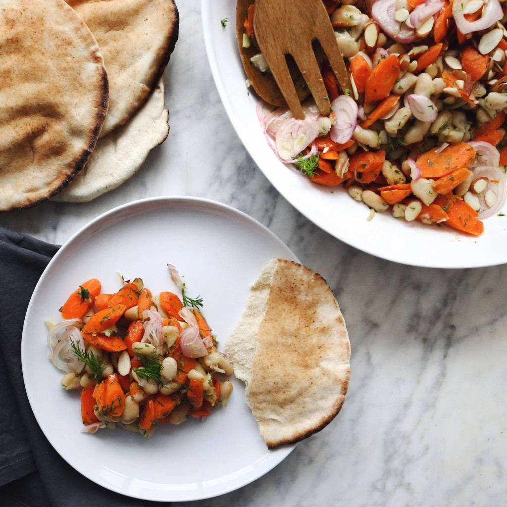 carrot cannellini salad