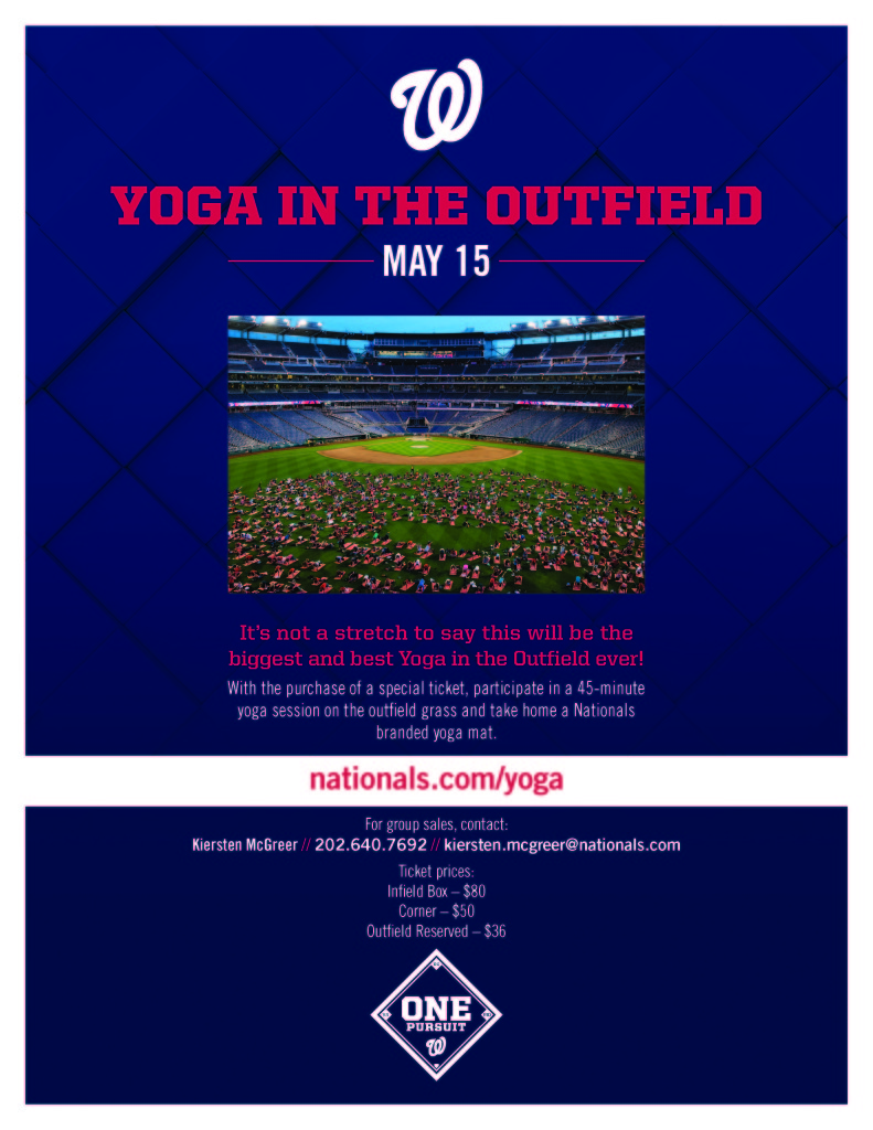 Washington Nationals: Yoga in the Outfield 2016 // inmybowl.com