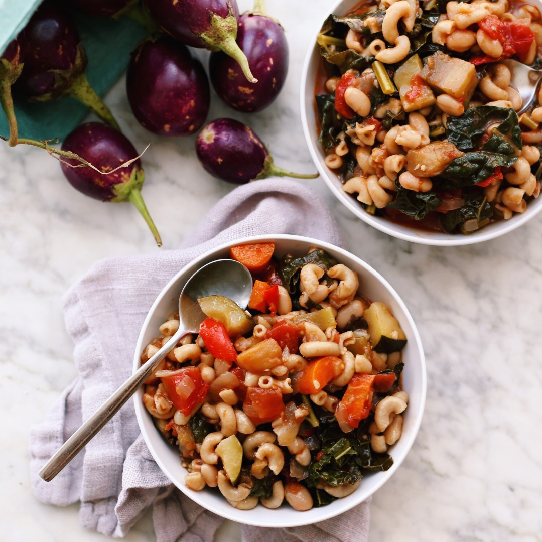Late Summer One Pot Minestrone Soup Recipe, plant based + vegan // Alexandra Tallulah, inmybowl.com