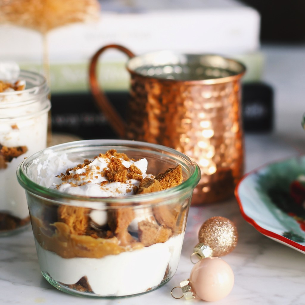 vegan eggnog trifle