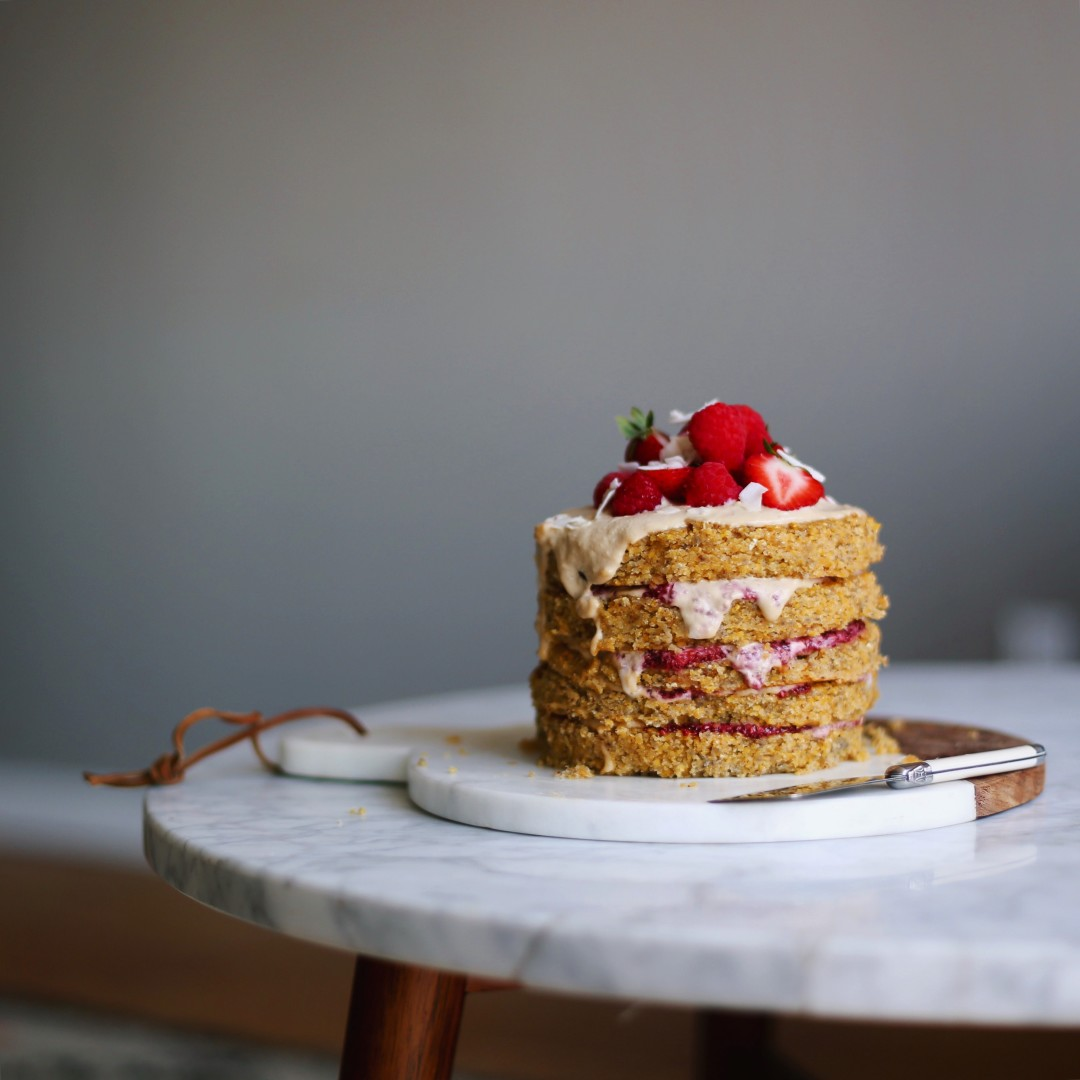 almond flour birthday cake