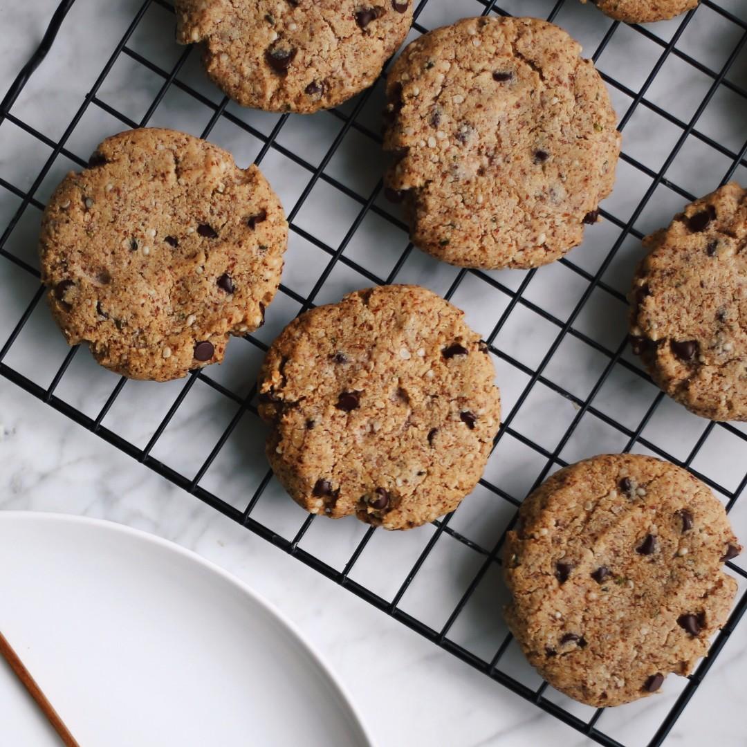 Grain Free Dark Chocolate Chip Hemp Cookies In My Bowl