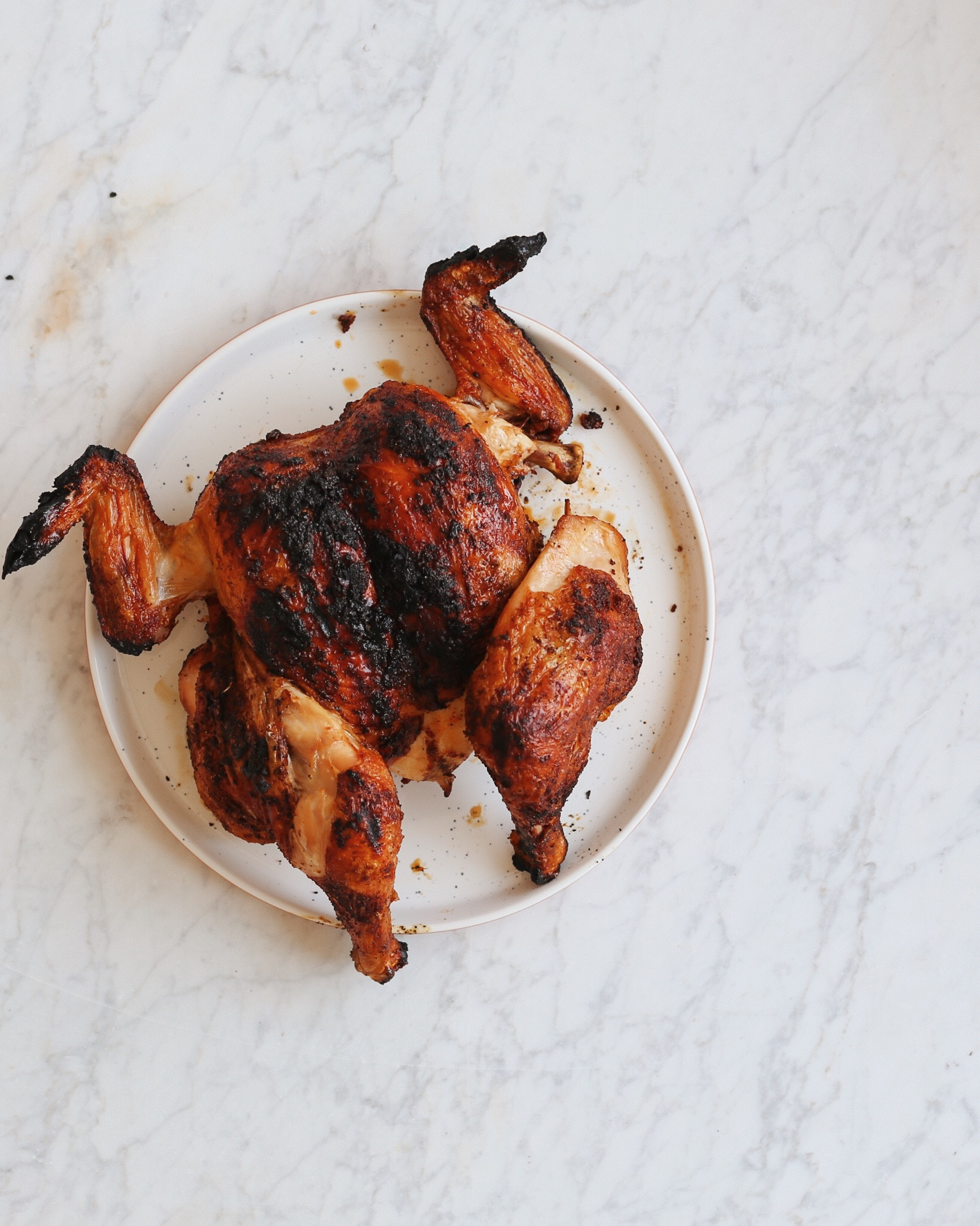 Four Ingredient Smoky Spatchcock Chicken In My Bowl
